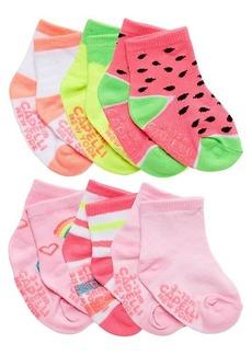 Capelli New York Baby Girl's & Little Girl's 6-Pack Watermelon Crew Socks