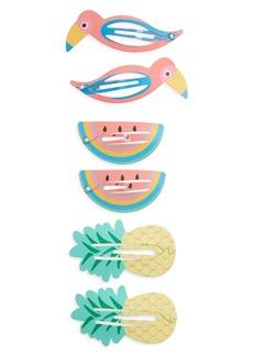 Capelli New York Kids' 6-Piece Hair Clip Set