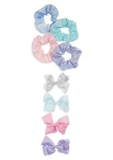 Capelli New York Kids' 8-Piece Assorted Scrunchies & Bows Set
