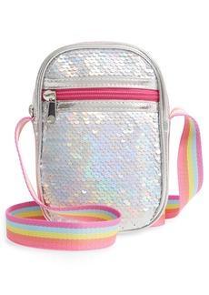 Capelli New York Kids' Glitter Sequin Crossbody Phone Case