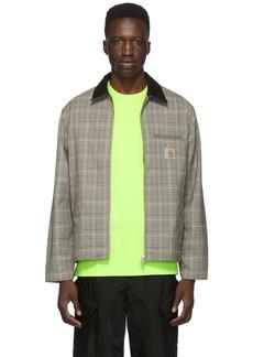Carhartt Brown Glen Check Detroit Jacket