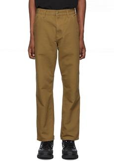 Carhartt Brown Single Knee Trousers