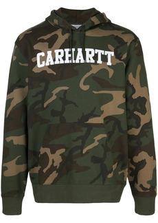 Carhartt camouflage print logo hoodie