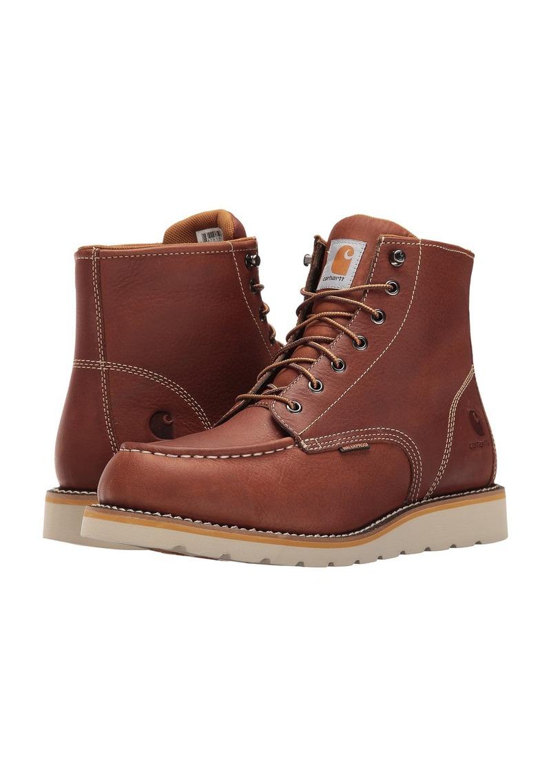 4b266e413f08 Carhartt 6-Inch Tan Waterproof Wedge Boot