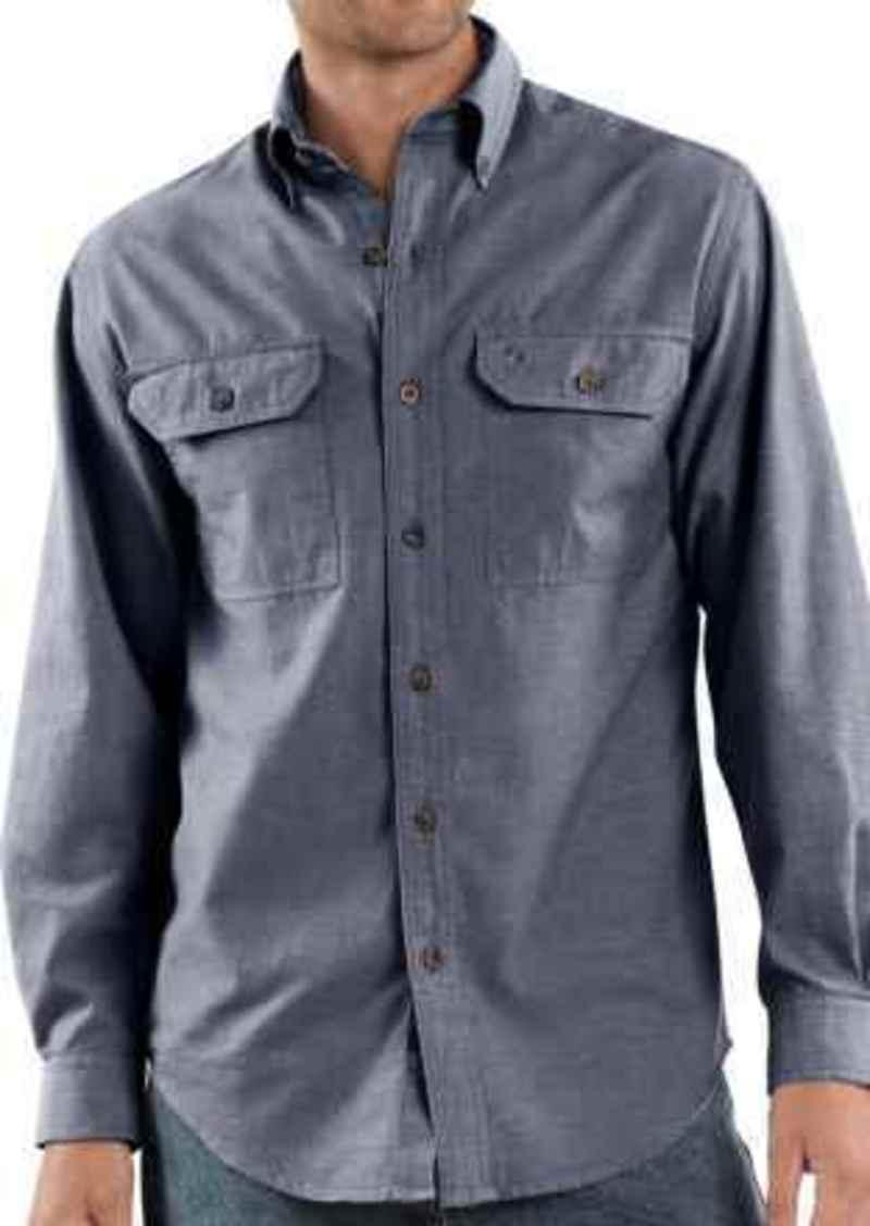 dcacbfe6051 Carhartt Carhartt Chambray Work Shirt - Long Sleeve (For Men ...