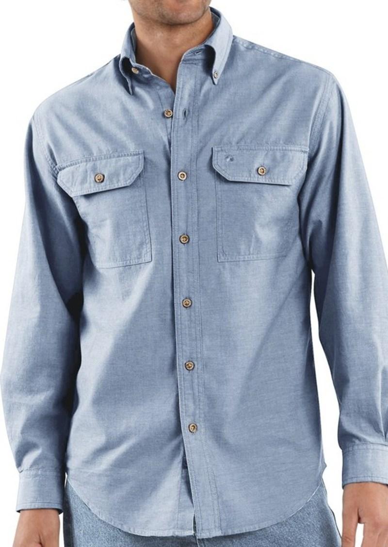 carhartt carhartt chambray work shirt long sleeve for
