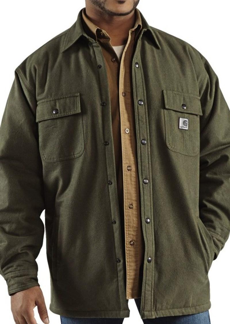 Sale carhartt carhartt chore flannel shirt jacket quilt for Athletic cut flannel shirts