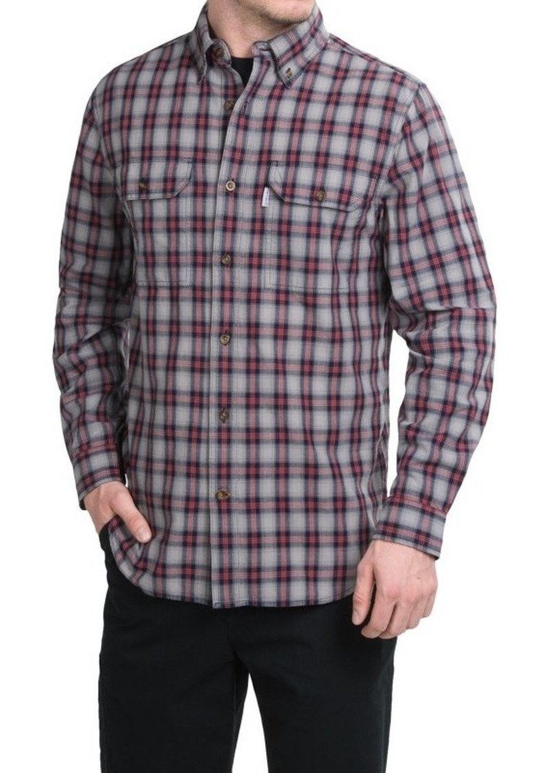 Carhartt carhartt fort plaid chambray shirt long sleeve for Big and tall casual shirts
