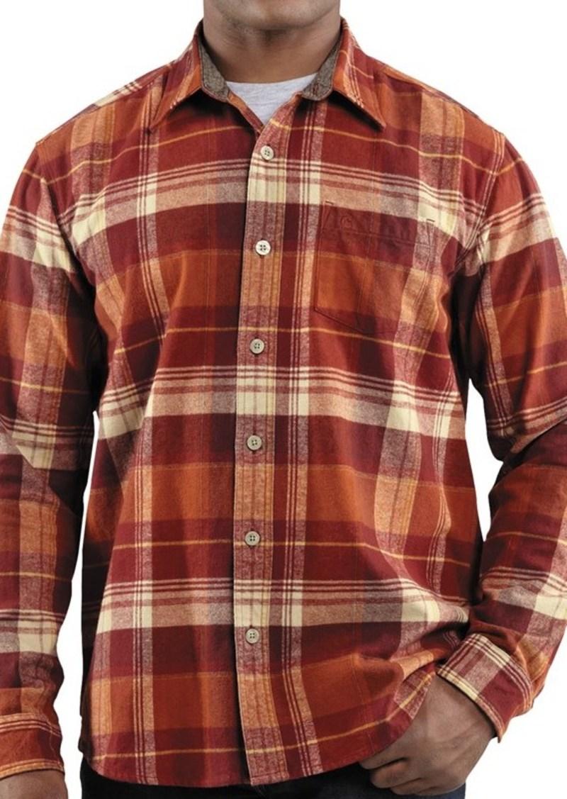 Carhartt carhartt hubbard plaid flannel shirt slim fit for Women s slim fit flannel shirt