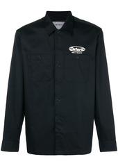 Carhartt logo print shirt jacket - Black