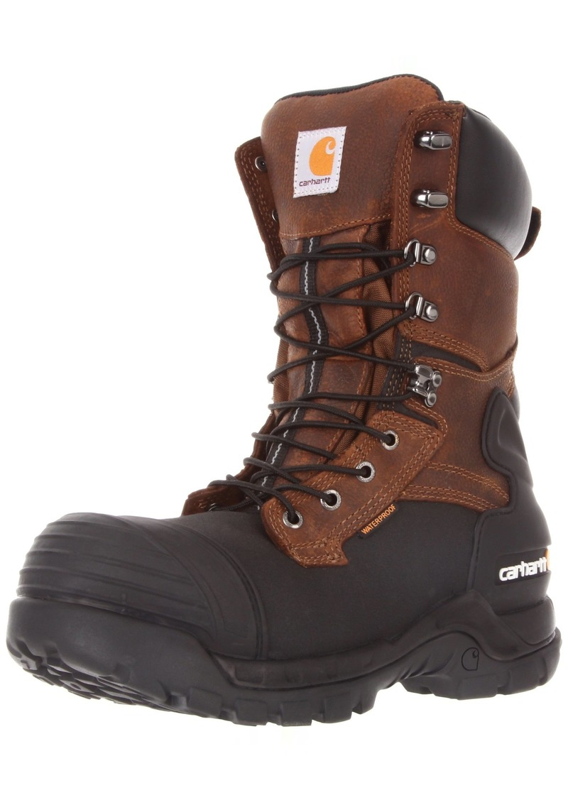 "Carhartt Men's 10"" Waterproof Insulated PAC Composite Toe Boot CMC1259"