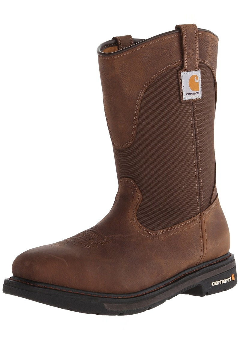 "Carhartt Men's 11"" Wellington Square Safety Toe Leather Work Boot CMP1208"