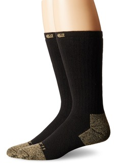 Carhartt Men's 2 Pack Full Cushion Steel-Toe Cotton Work Boot Socks  Shoe Size: 6-12