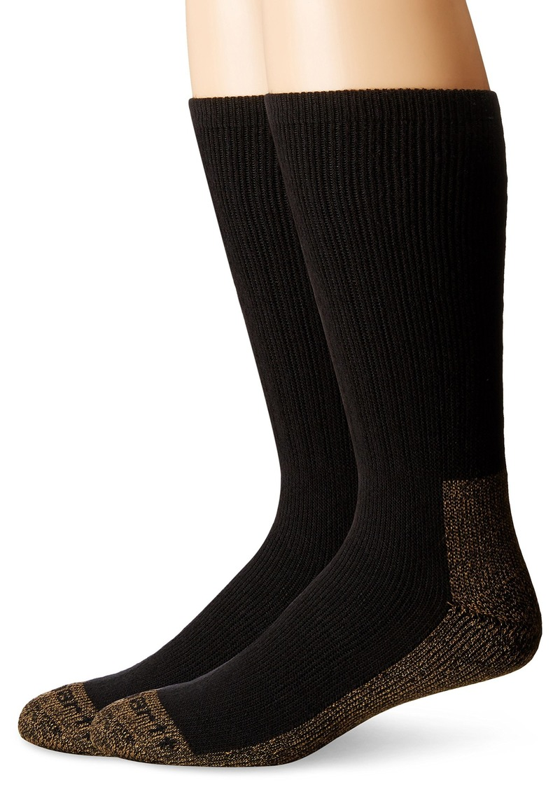 Carhartt Men's 2 Pack Full Cushion Steel-Toe Synthetic Work Boot Socks  Shoe Size: 6-12