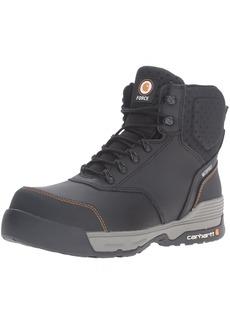 """Carhartt Men's 6"""" Lightweight Waterproof Composite Toe Work Boot CMA6381 Black/Grey"""