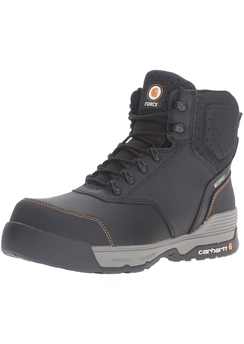 "Carhartt Men's 6"" Lightweight Waterproof Composite Toe Work Boot CMA6381 Black/Grey"