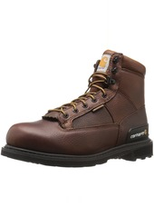 "Carhartt Men's 6"" Waterproof Soft Toe Work Boot CMW6185 Camel  Oil Tanned"