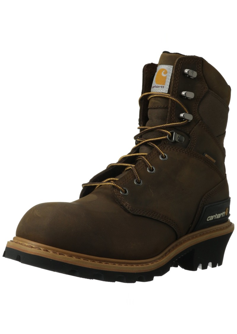 "Carhartt Men's 8"" Waterproof Breathable Soft Toe Logger Boot CML8160"