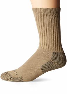 Carhartt Men's 3-Pack Standard All-Season Cotton Crew Work Socks  Shoe Size: 5-10