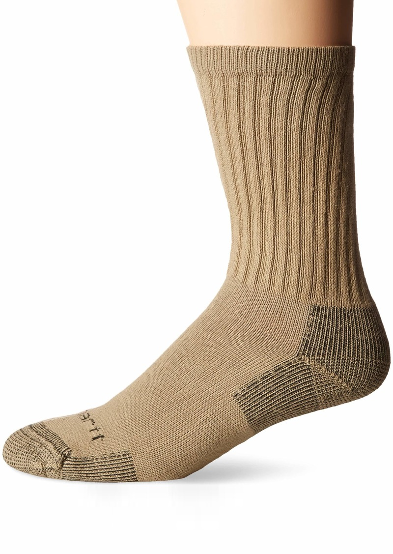 Carhartt Men's 3-Pack Standard All-Season Cotton Crew Work Socks  Shoe Size: 5-10