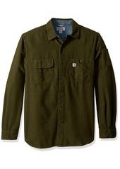 Carhartt Men's Beartooth Solid Long Sleeve Shirt peat Heather