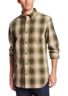 Carhartt Men's Bellevue Long Sleeve Shirt Plaid Button Front Relaxed FitDuffle Bag Green  (Closeout)