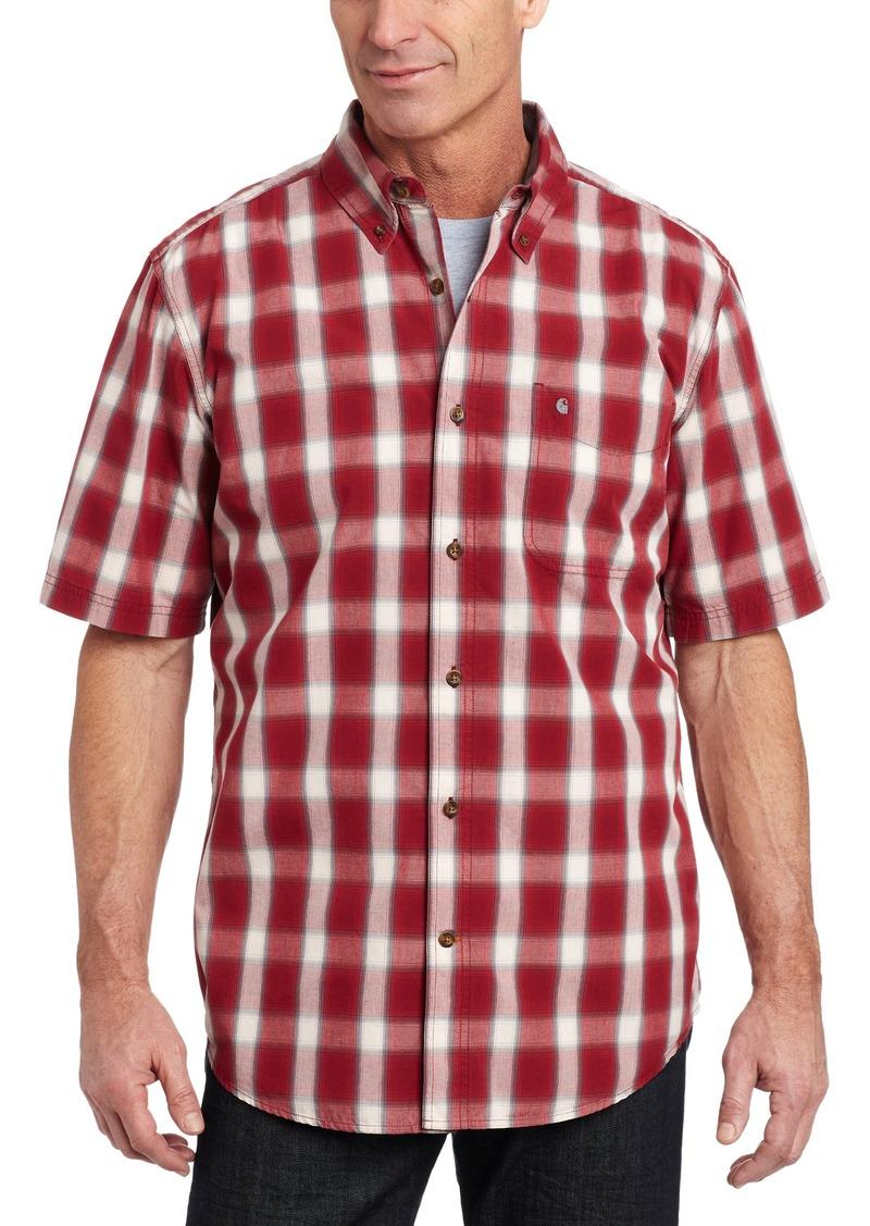 Carhartt Carhartt Men 39 S Bellevue Plaid Short Sleeve Shirt