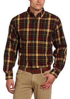 Carhartt Men's Big & Tall Bellevue Long Sleeve Shirt Plaid Button Front Relaxed FitBlack  (Closeout)
