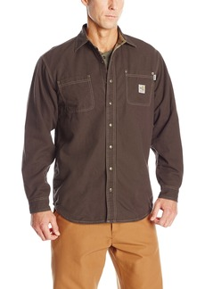 Carhartt Men's Big & Tall Flame Resistant Canvas Shirt JacketX-Large Tall