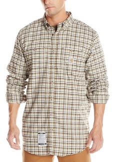 Carhartt Men's Big & Tall Flame Resistant Classic Plaid Long Sleeve Woven ShirtLarge/Tall