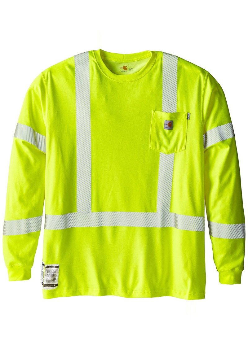 5a00f47f Carhartt Men's Big & Tall Flame Resistant High Visibility Long Sleeve T-Shirt  Class 4