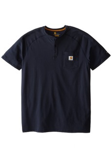 Carhartt Men's Big & Tall Force Cotton Short Sleeve Henley Relaxed Fit  3X-Large