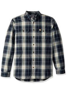 Carhartt Men's Big & Tall Fort Plaid Long Sleeve Shirt  3X-Large