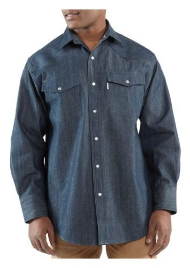 Carhartt carhartt men 39 s big tall ironwood denim work for Tall mens work shirts
