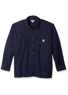 Carhartt Men's Big & Tall Rugged Flex Rigby Shirt Jac deep Blue 4X-Large
