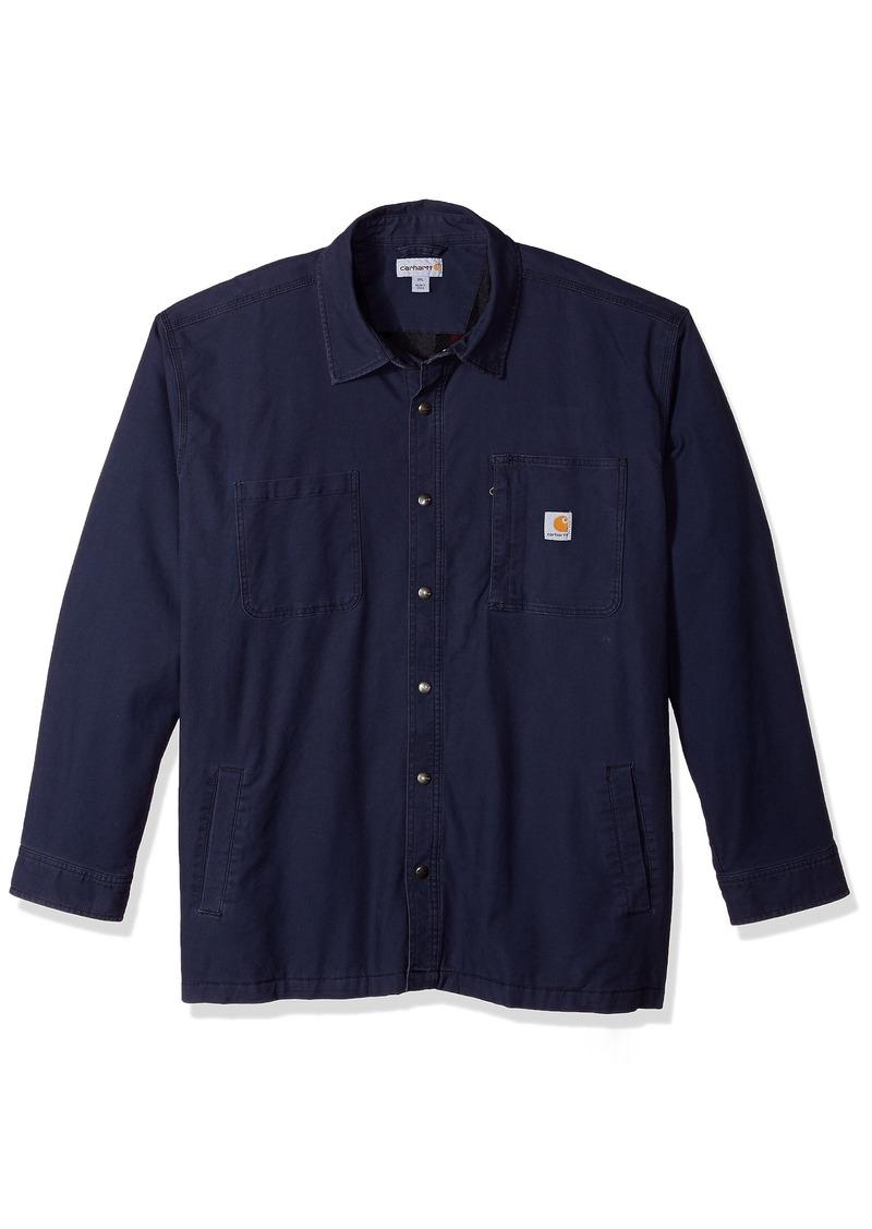 Carhartt Men's Big & Tall Rugged Flex Rigby Shirt Jac deep Blue 4X-Large