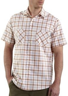 Carhartt Men's Big & Tall Short Sleeve Lightweight Plaid ShirtTangerine  (Closeout)