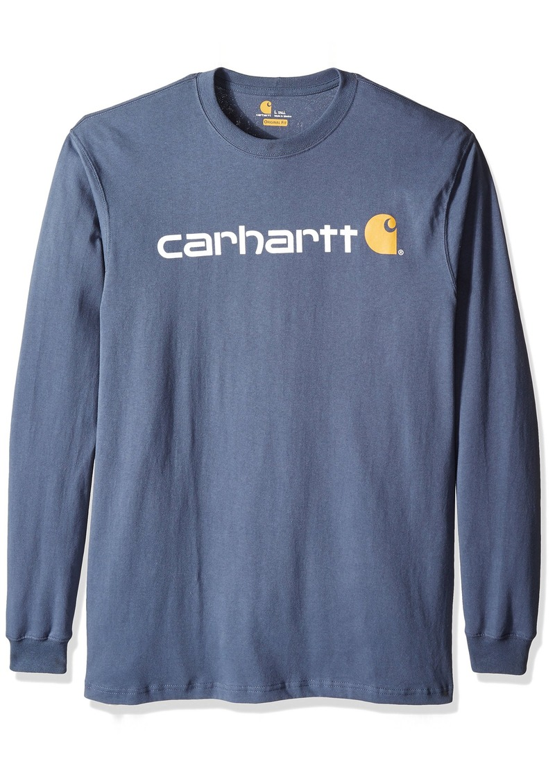Carhartt carhartt men 39 s big tall signature logo for Mens long sleeve t shirts sale