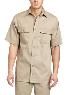 Carhartt Men's Big & Tall Twill Short Sleeve Work Shirt Button FrontXXX-Large Tall