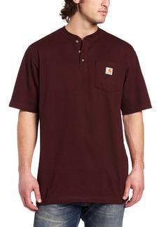 Carhartt Men's Big & Tall Workwear Pocket Short Sleeve Henley Original Fit K84