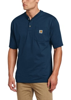 Carhartt Men's Big & Tall Workwear Pocket Short Sleeve Henley Original Fit K84Large Tall