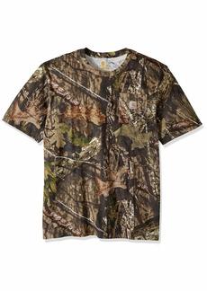 Carhartt Men's Big and Tall Big & Tall Camo Short Sleeve T Shirt 340-Mossy Oak Breakup Country Large