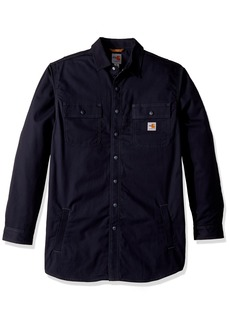 Carhartt Men's Big and Tall Big & Tall Flame Resistant Full Swing Quick Duck Shirt Jac  Large
