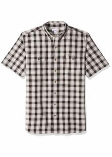 Carhartt Men's Big and Tall Big & Tall Fort Plaid Short Sleeve Shirt  3X-Large