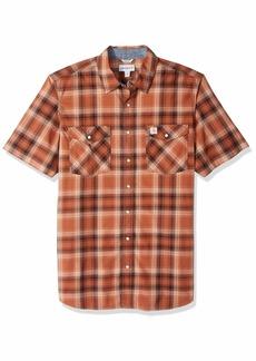 Carhartt Men's Big and Tall Big & Tall Rugged Flex Bozeman Short Sleeve Shirt 220-Sequoia Large