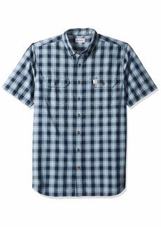 Carhartt Men's Big Big & Tall Fort Plaid Short Sleeve Shirt