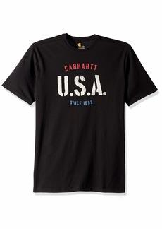 Carhartt Men's Big Big & Tall Lubbock USA Graphic Short Sleeve T-Shirt  2X-Large/Tall
