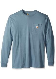 Carhartt Men's Big Big & Tall Workwear Pocket Long Sleeve T Shirt K126  2X-Large/Tall