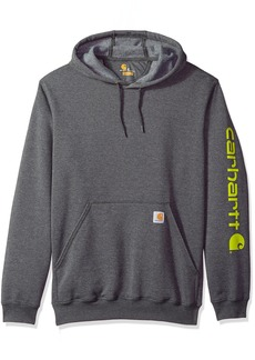 Carhartt Men's Big B&T Signature Sleeve Logo Midweight Hooded Sweatshirt K288