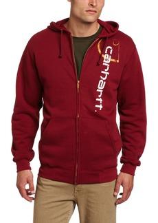 Carhartt Men's Big C Signature Logo Sweatshirt Zip front Original FitDark Red  (Closeout)